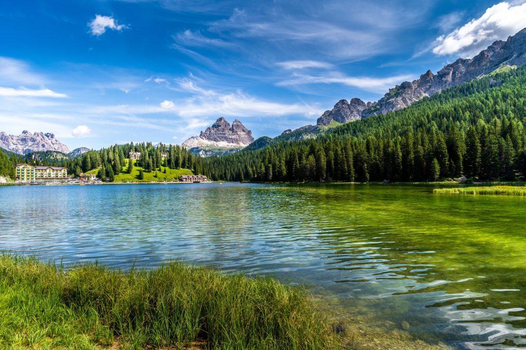 Gorgeous mountain lake image