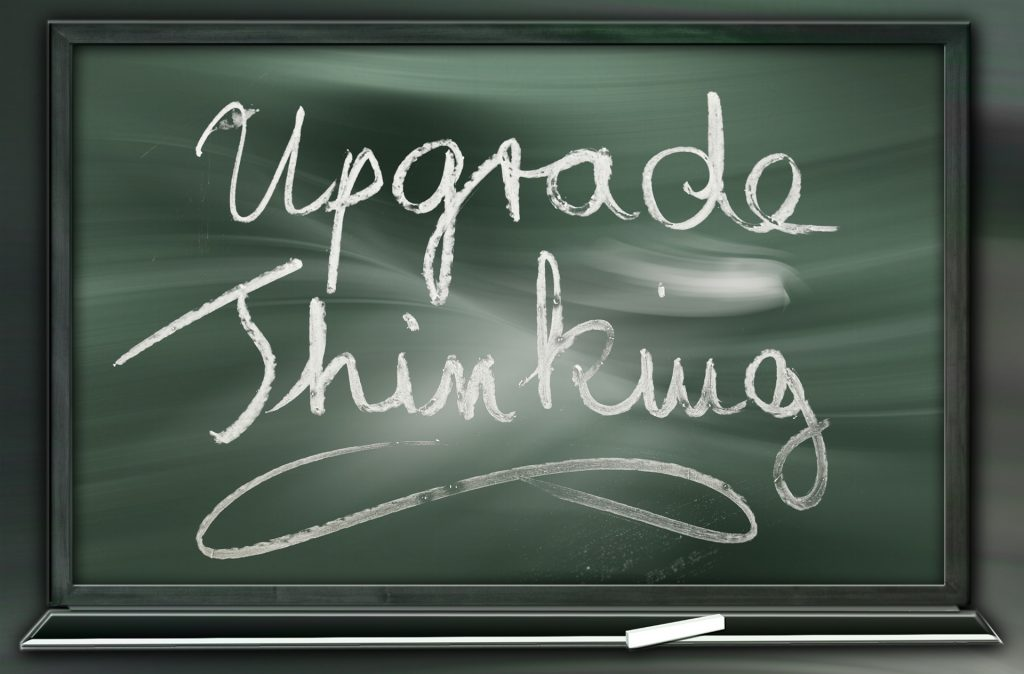 Upgrade Thinking chalkboard image