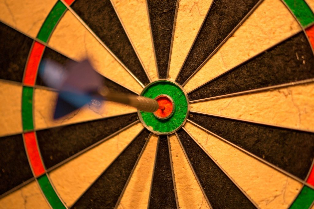 Dartboard bullseye target image