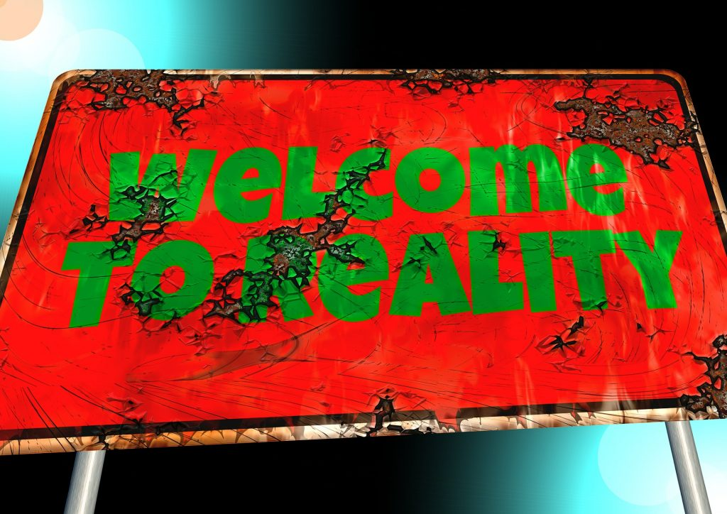 Welcome To Reality sign image