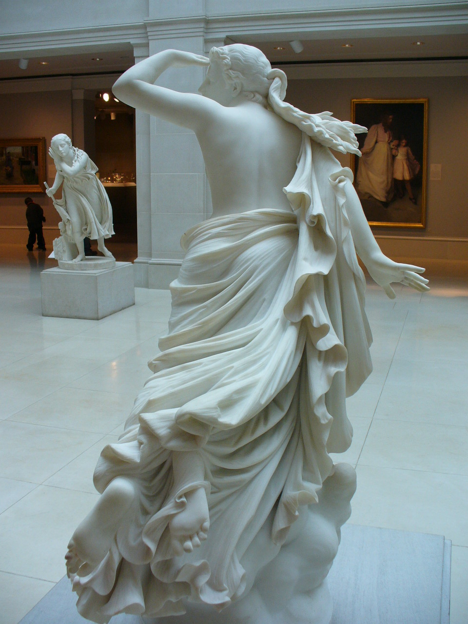 The Lost Pleiade by Randolph (sculpture, rear view)
