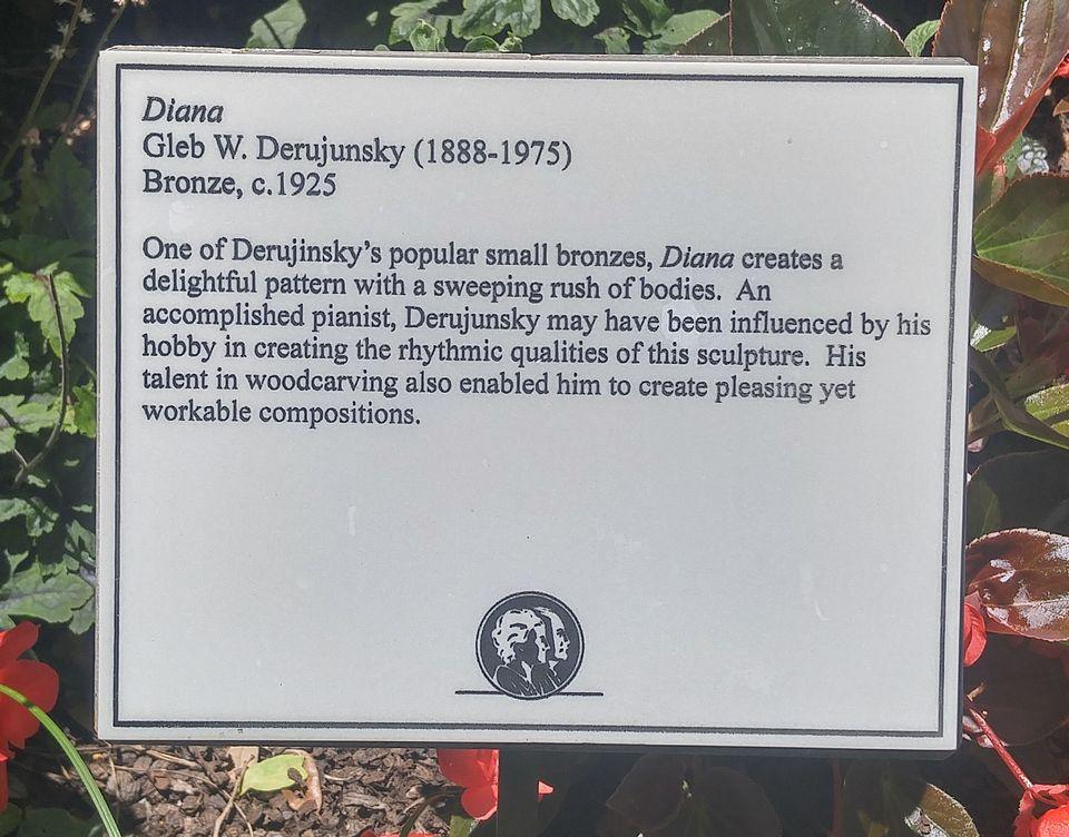 Diana by Gleb Derujinsky (plaque)