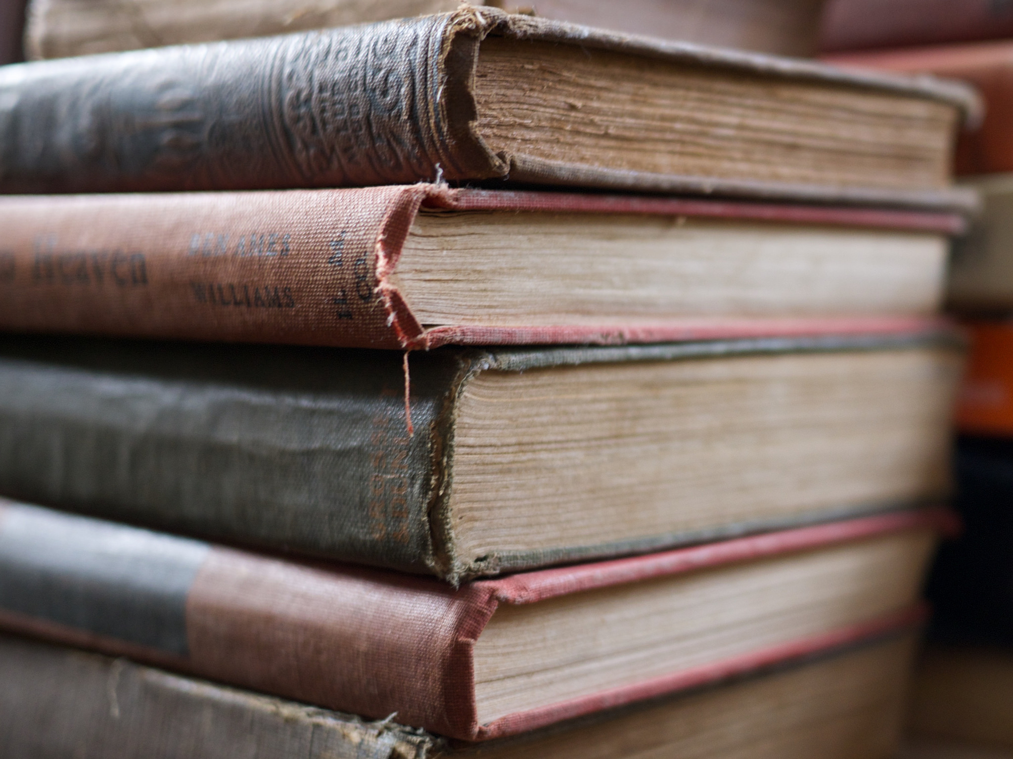 Stack of rustic books