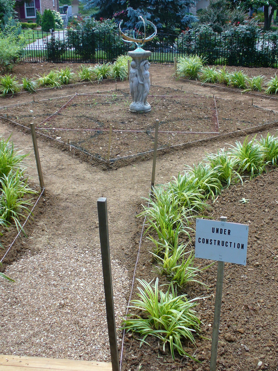 Elysium's Knot Garden (preparation, layout)