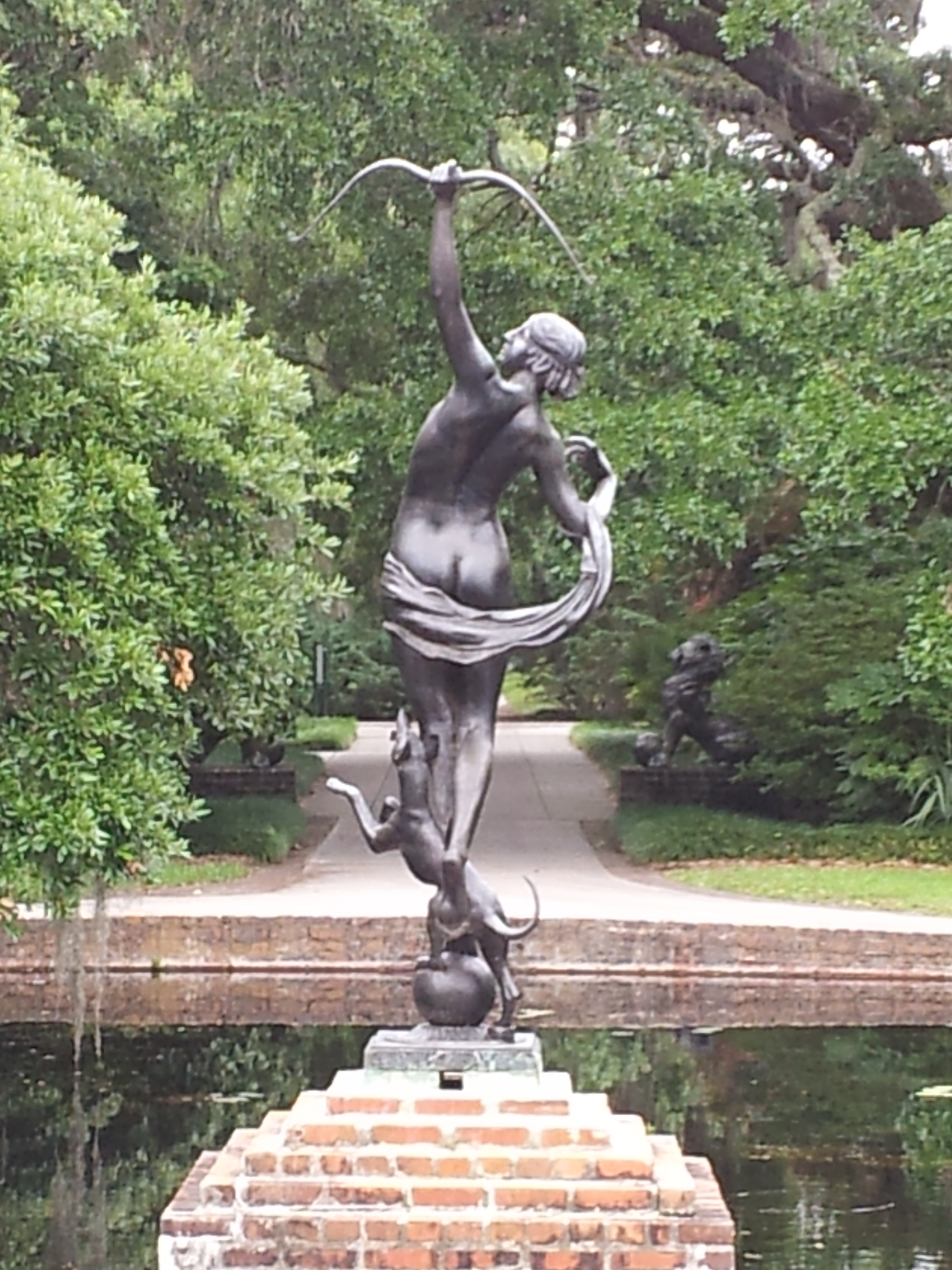Diana of the Chase by Anna Hyatt Huntington (sculpture)