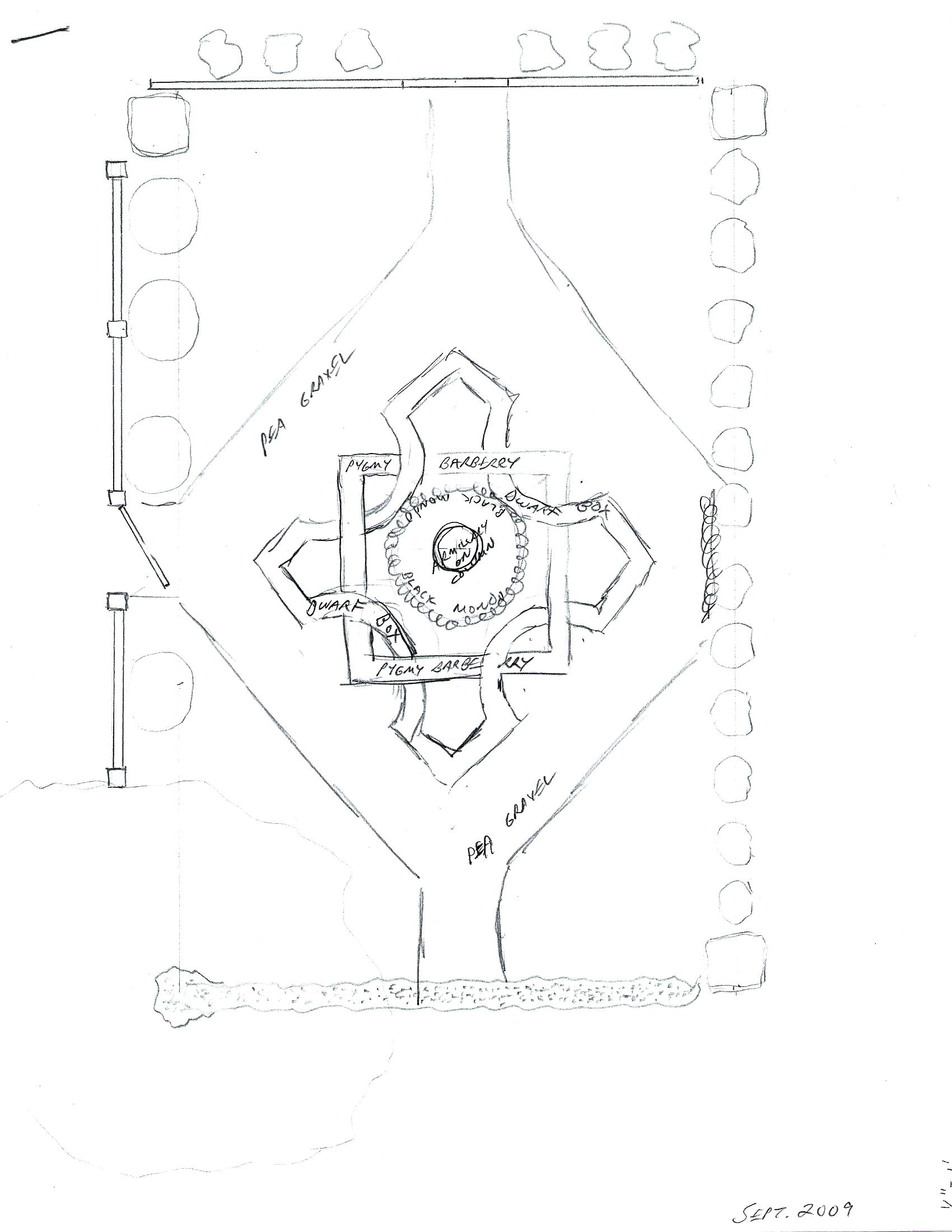 Elysium's Knot Garden (original sketch of layout)