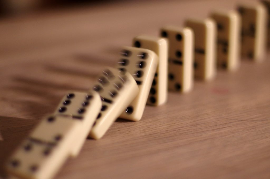 Cause & Effect - the domino effect image