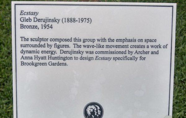 Ecstacy by Gleb W. Derujinsky (plaque)